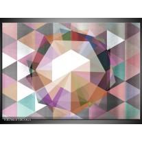 Glas Schilderij Design | Paars, Grijs