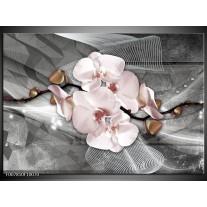Canvas Schilderij Orchidee, Bloemen | Grijs