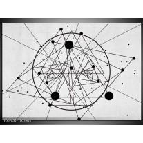 Glas Schilderij Design | Zwart, Wit