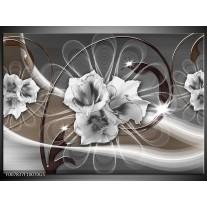 Glas Schilderij Modern | Grijs, Bruin