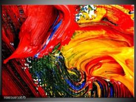 Foto canvas schilderij Verf   Rood, Geel, Groen
