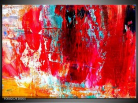 Foto canvas schilderij Abstract | Rood, Wit, Geel