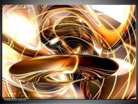 Foto canvas schilderij Abstract   Goud, Geel, Bruin