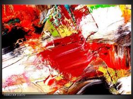 Foto canvas schilderij Abstract | Rood, Wit, Zwart