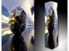 Ledlamp 101, Abstract, Blauw, Paars, Grijs