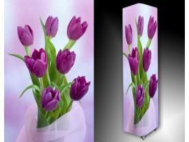Ledlamp 1037, Tulpen, Paars, Groen, Wit