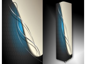 Ledlamp 105, Abstract, Blauw, Grijs, Wit