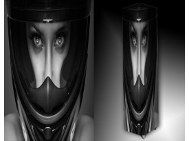 Ledlamp 1325, Helm, Zwart, Wit, Grijs