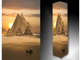 Ledlamp 1336, Piramide, Creme, Bruin, Geel