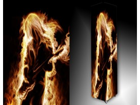 Ledlamp 1451, Vuur, Geel, Oranje, Zwart
