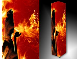 Ledlamp 1457, Vrouw, Zwart, Rood, Oranje