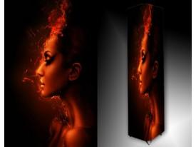 Ledlamp 1467, Vrouw, Zwart, Rood, Oranje