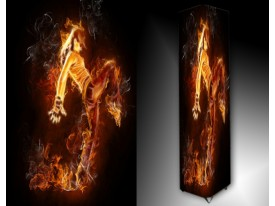 Ledlamp 1469, Vuur, Zwart, Geel, Oranje