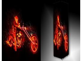 Ledlamp 1470, Motor, Zwart, Rood, Geel