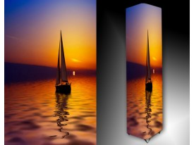 Ledlamp 1507, Boot, Paars, Oranje, Geel