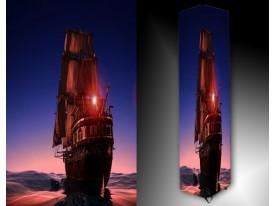 Ledlamp 1519, Boot, Blauw, Rood, Bruin