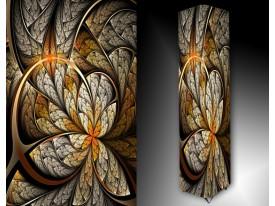 Ledlamp 157, Abstract, Geel, Bruin, Grijs