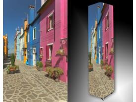 Ledlamp 1594, Huizen, Roze, Blauw, Grijs