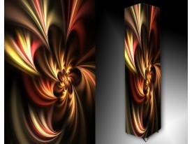 Ledlamp 160, Abstract, Bruin, Rood, Geel