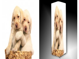 Ledlamp 1603, Puppy, Bruin, Wit