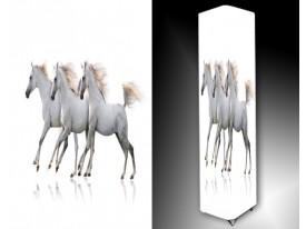 Ledlamp 1604, Paarden, Wit