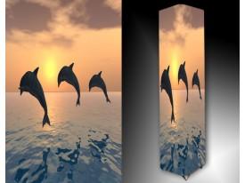 Ledlamp 1620, Dolfijnen, Grijs, Blauw, Geel