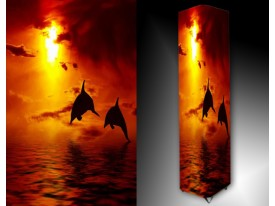 Ledlamp 1626, Dolfijnen, Rood, Oranje, Zwart