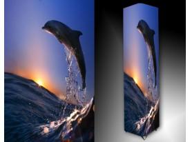 Ledlamp 1650, Dolfijn , Blauw, Grijs, Oranje