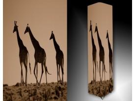 Ledlamp 1663, Giraffe, Bruin, Creme, Zwart