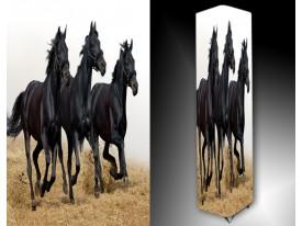 Ledlamp 1672, Paarden, Zwart, Bruin, WIt