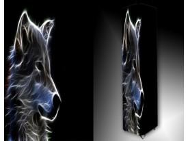 Ledlamp 1687, Wolf, Zwart, Grijs, Blauw