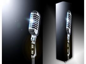 Ledlamp 280, Microfoon, Zwart. Grijs, Wit