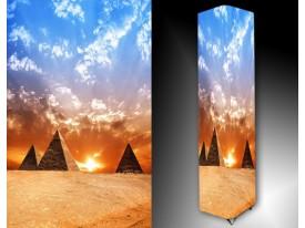 Ledlamp 514, Piramide, Blauw, Oranje, Geel