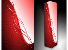 Ledlamp 61, Abstract, Rood, Roze, Wit