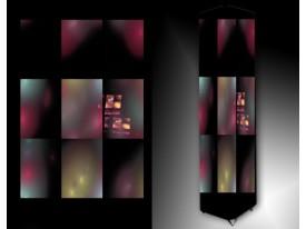 Ledlamp 76, Abstract, Roze, Zwart, Paars