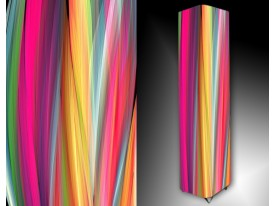 Ledlamp 85, Abstract, Roze, Oranje, Blauw