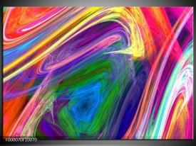 Glas schilderij Kleurrijk | Groen, Paars, Geel