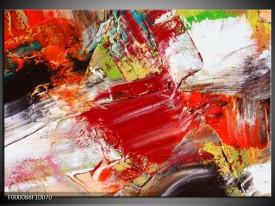 Glas schilderij Abstract | Rood, Wit, Grijs