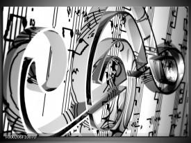 Glas schilderij Muziek | Wit, Grijs, Zwart