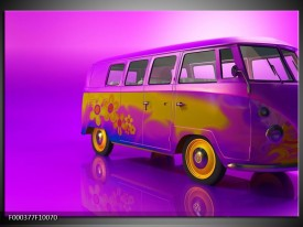Foto canvas schilderij Auto | Paars, Geel, Zwart