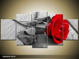 OP VOORRAAD Foto canvas schilderij Roos | 150x70cm | F000484