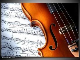Glas schilderij Muziek | Wit, Bruin, Zwart
