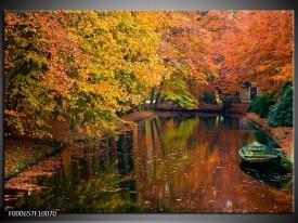 Foto canvas schilderij Herfst | Geel, Oranje, Groen