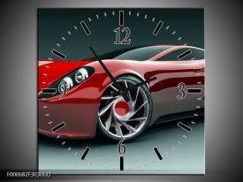 Wandklok op Glas Auto | Kleur: Rood, Zwart, Wit | F000682CGD