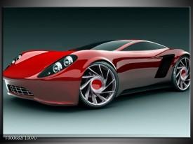 Glas schilderij Auto | Rood, Zwart, Wit