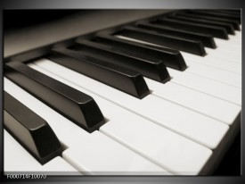 Foto canvas schilderij Piano | Zwart, Wit