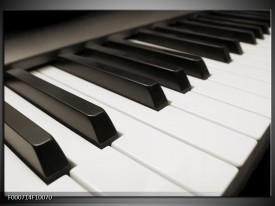 Glas schilderij Piano | Zwart, Wit