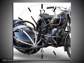 Wandklok op Glas Motor | Kleur: Grijs, Zwart, Wit | F000778CGD