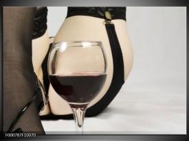 Glas schilderij Wijn | Bruin, Grijs, Zwart