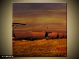 OP VOORRAAD  Foto canvas schilderij Molen | 70x70cm | F000886